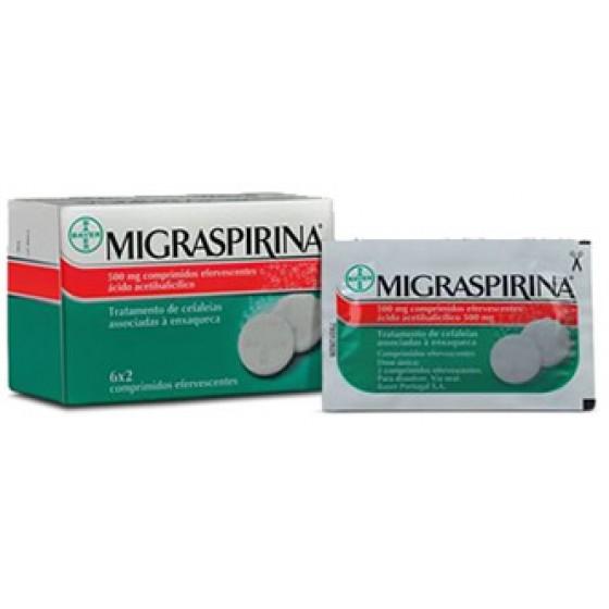 MIGRASPIRINA COMP EF 500 MG X 12