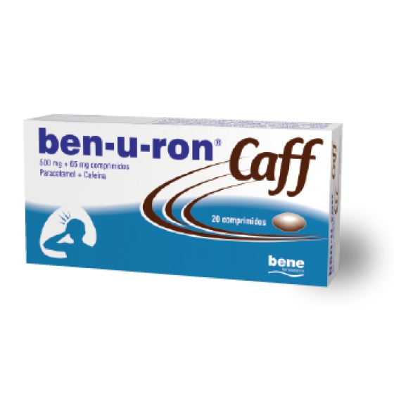 BEN-U-RON CAFF 500 MG + 65 MG COMP  - 20
