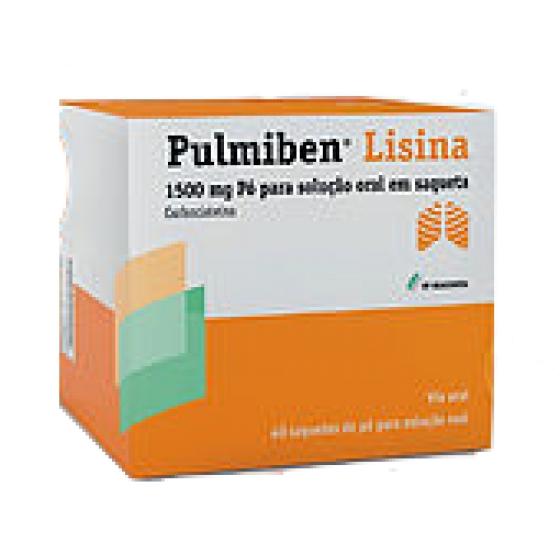 PULMIBEN LISINA 1500 MG PÓ  SOL 40 saq