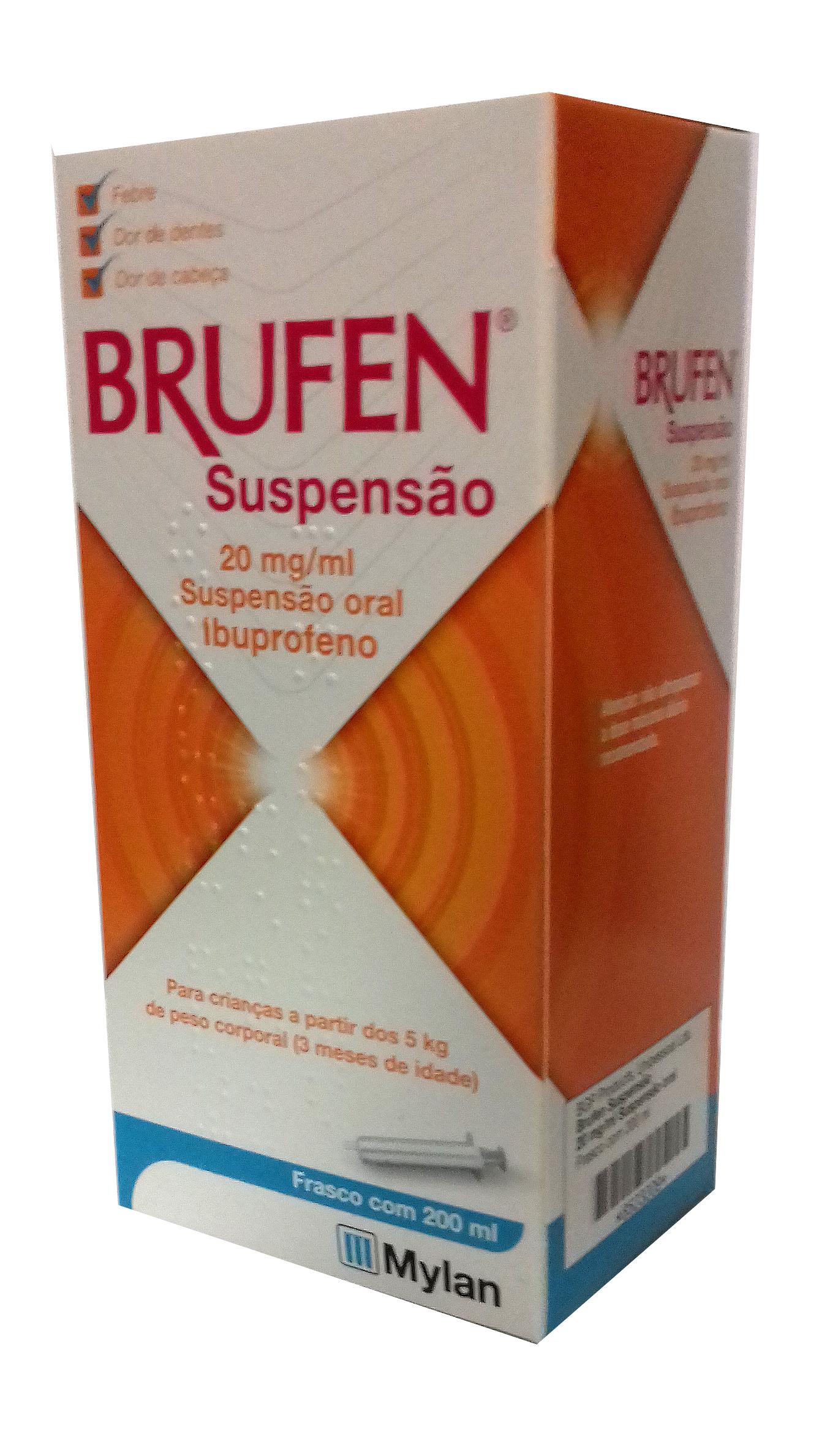 BRUFEN SUSPENSÃO ORAL 100 MG/5 ML 200ML