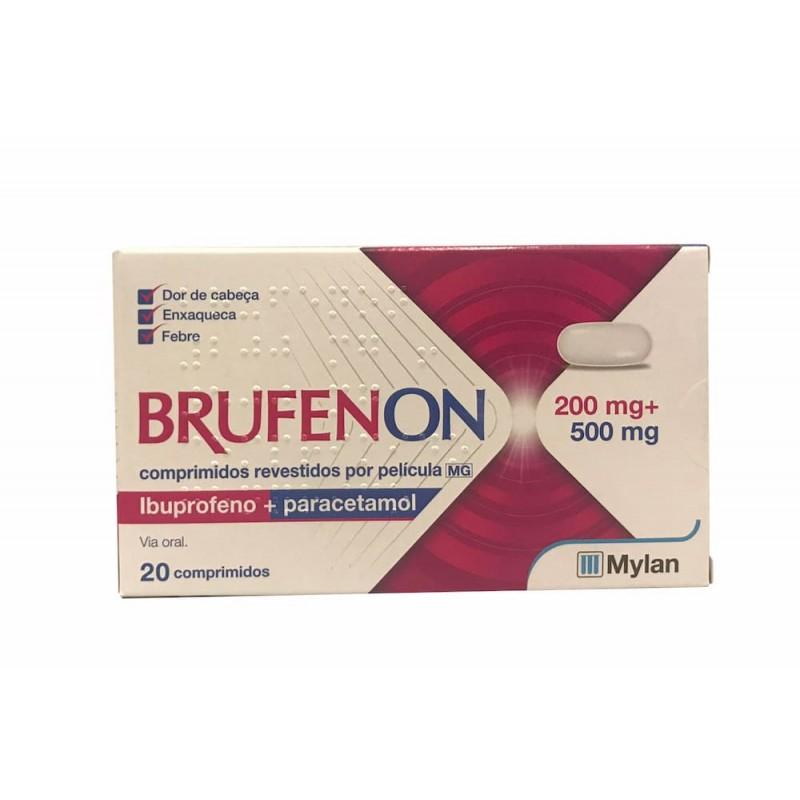 BRUFENON 200 MG+ 500 MG 20 COMP