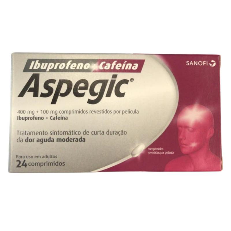 ASPEGIC - IBUPROFENO + CAFEÍNA 24 COMP