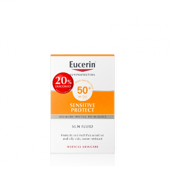 EUCERIN SUNFACE SENS FL FPS50+ 50ML -20%