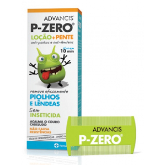 ADVANCIS P ZERO LOCAO PIOLHOS 100ML+PENTE