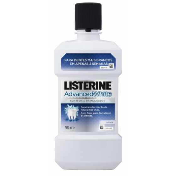 LISTERINE ADVANCE WHITE ELIXIR 500ML