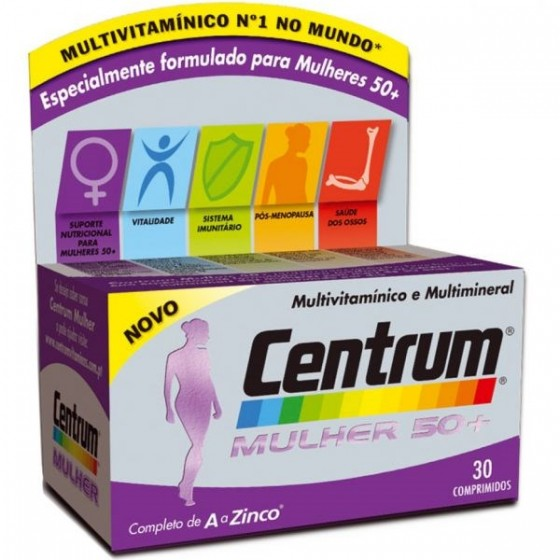 CENTRUM MULHER50+ COMP X 30