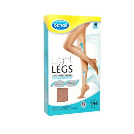 SCHOLL LIGHT LEGS MEIA COMP 20DEN M CARNE